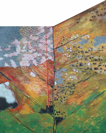 Nature Mixed-media Art Painting title 'As Within So Without 7' by artist Manoj Paturkar