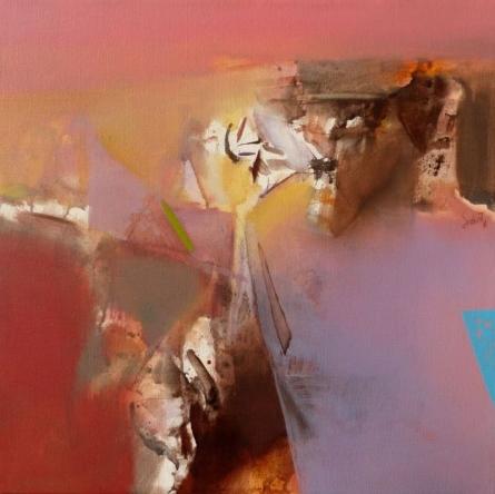 Abstract Acrylic Art Painting title 'Untitled 109' by artist Shrikant Kadam