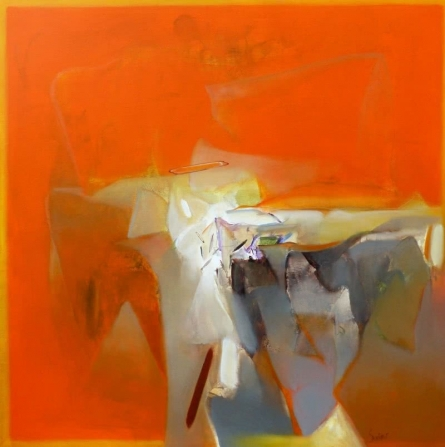 Abstract Acrylic Art Painting title Untitled 116 by artist Shrikant Kadam