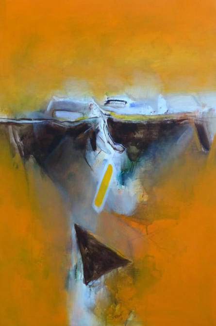 Abstract Acrylic Art Painting title 'Untitled 138' by artist Shrikant Kadam