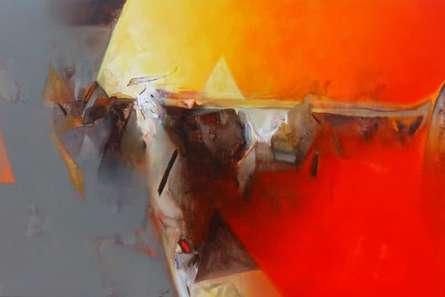 Abstract Acrylic Art Painting title 'Untitled 145' by artist Shrikant Kadam
