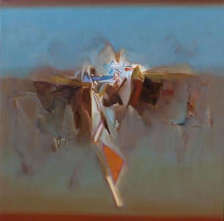 Abstract Acrylic Art Painting title 'Untitled 149' by artist Shrikant Kadam
