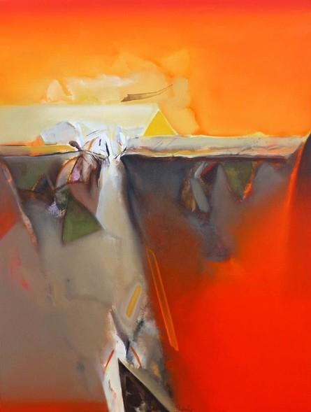 Abstract Acrylic Art Painting title Untitled 151 by artist Shrikant Kadam