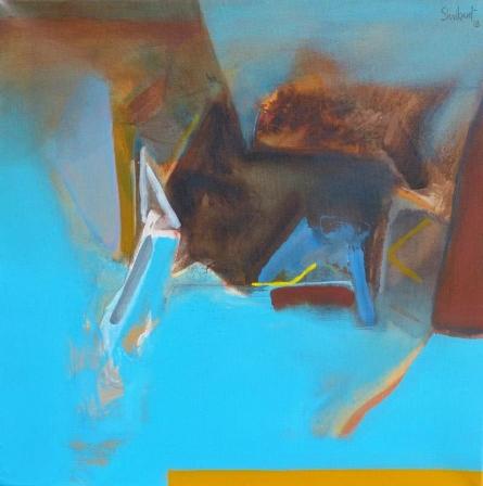 Abstract Acrylic Art Painting title 'Untitled 152' by artist Shrikant Kadam