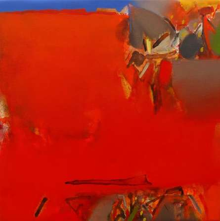 Abstract Acrylic Art Painting title 'Untitled 156' by artist Shrikant Kadam