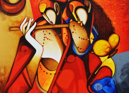Moods | Painting by artist Om Swami | acrylic | Canvas