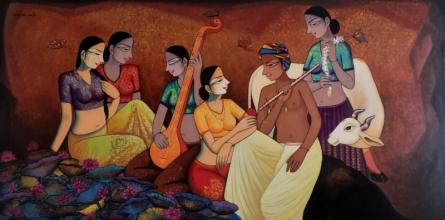 Figurative Acrylic Art Painting title Untitled 1 by artist Pravin Utge