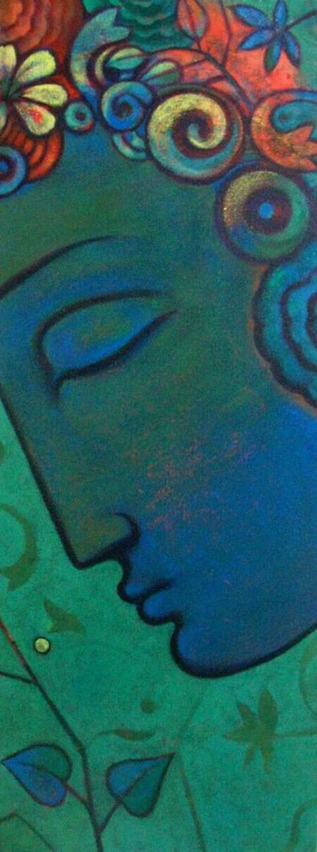 Religious Acrylic Art Painting title 'Budha' by artist Sanjay Bhalerao