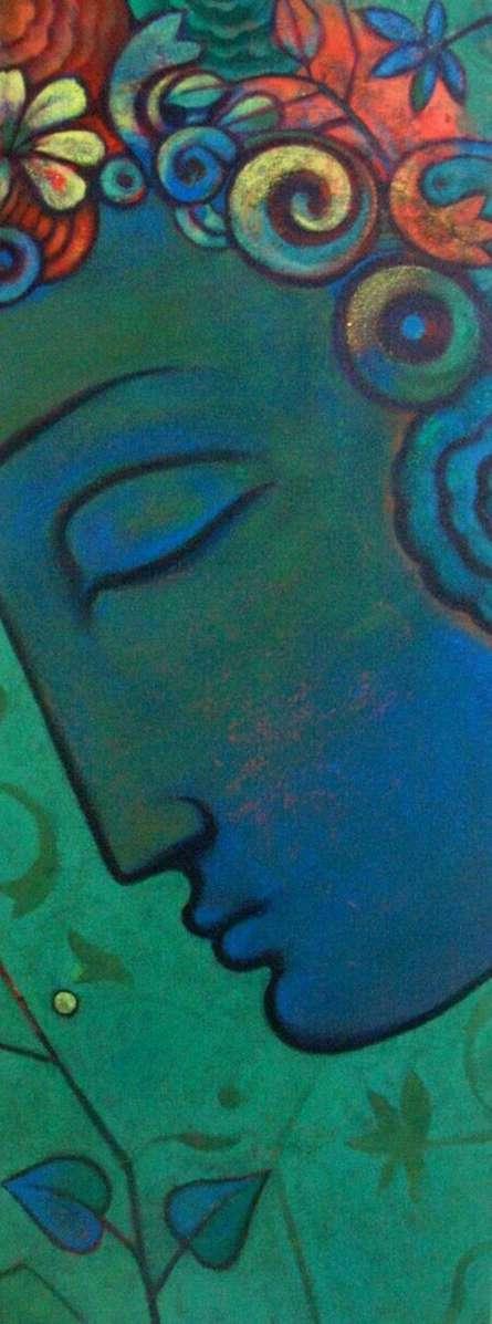 Religious Acrylic Art Painting title Budha by artist Sanjay Bhalerao