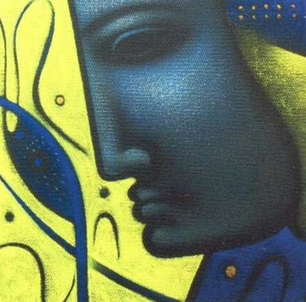 Religious Acrylic Art Painting title Shiv 4 by artist Sanjay Bhalerao