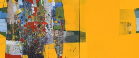 Abstract Mixed-media Art Painting title Untitled 20 by artist Yogesh Murkute