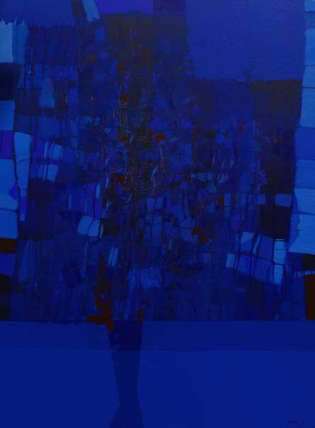Abstract Mixed-media Art Painting title Untitled 21 by artist Yogesh Murkute