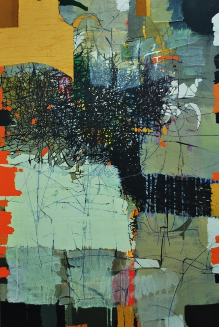 Abstract Mixed-media Art Painting title Untitled 3 by artist Yogesh Murkute