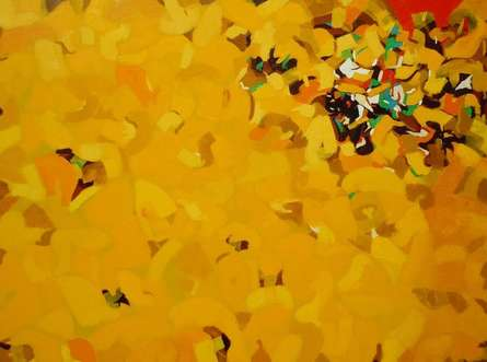 Abstract Oil Art Painting title 'Untitled 6' by artist Yogesh Murkute