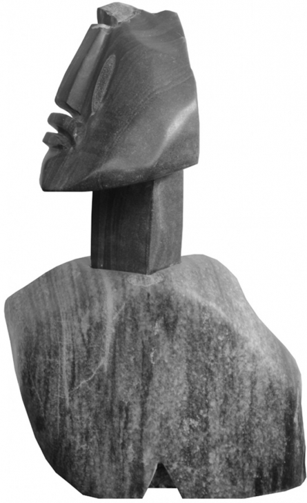 Black Marble Sculpture titled 'Untitled 2' by artist Pradeep Jogdand
