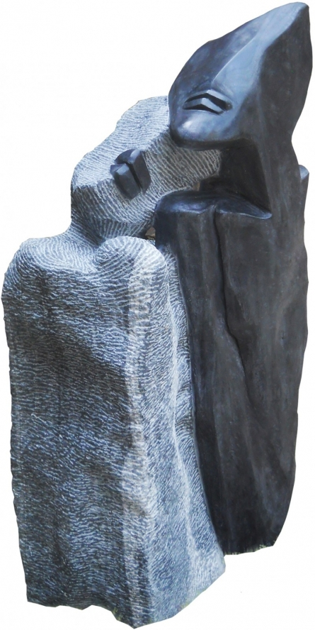 Black Marble Sculpture titled 'Untitled 4' by artist Pradeep Jogdand