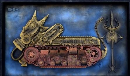 Haribaabu Naatesan | Cyber War In The Name Of God 1 Sculpture by artist Haribaabu Naatesan on Acrylic Glass | ArtZolo.com
