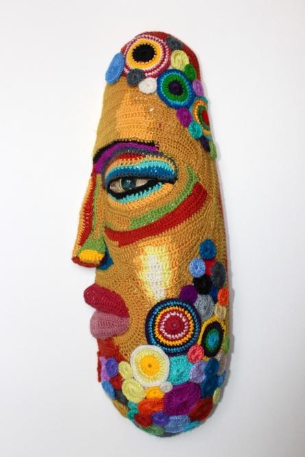 Mixed Media Sculpture titled 'Face 12' by artist Archana Rajguru
