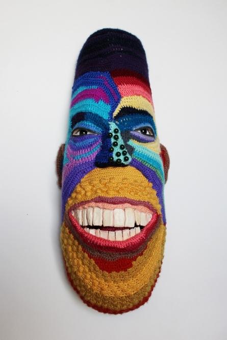 Mixed Media Sculpture titled 'Face 15' by artist Archana Rajguru