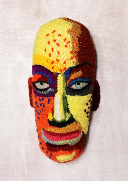 Mixed Media Sculpture titled 'Face 16' by artist Archana Rajguru