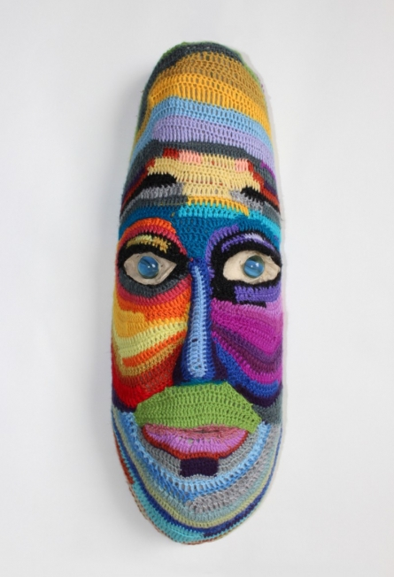 Mixed Media Sculpture titled 'Face 2' by artist Archana Rajguru