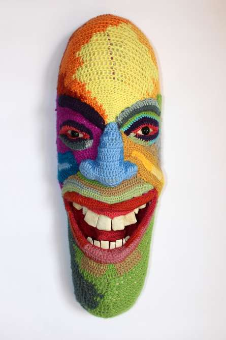 Mixed Media Sculpture titled 'Face 8' by artist Archana Rajguru