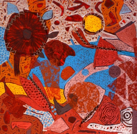 Abstract Mixed-media Art Painting title Untitled D by artist Pankaj Kumar Singh