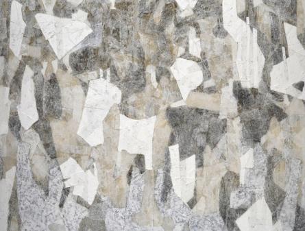 Abstract Mixed-media Art Painting title 'Untitled M' by artist Pankaj Kumar Singh