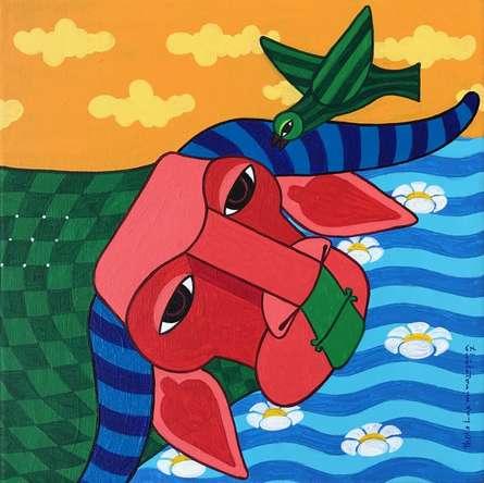 Animals Acrylic Art Painting title 'Untitled 4' by artist Thota Laxminarayana