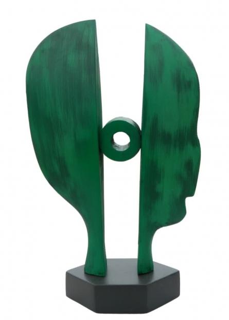 Fiberglass Sculpture titled 'Behind Her 14' by artist Sunil Chejara