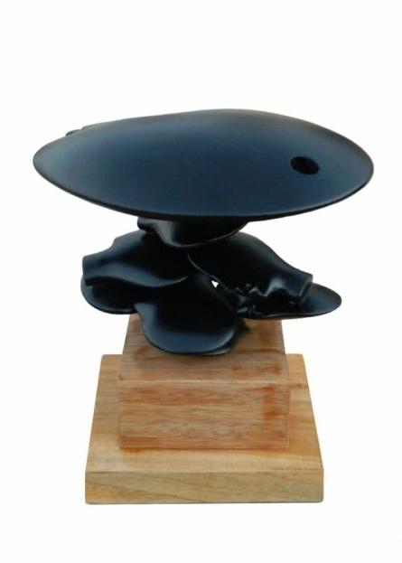 Fiberglass Sculpture titled 'Behind Her 8' by artist Sunil Chejara