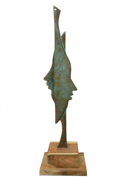 Sunil Chejara | Couple Sculpture by artist Sunil Chejara on Bronze | ArtZolo.com