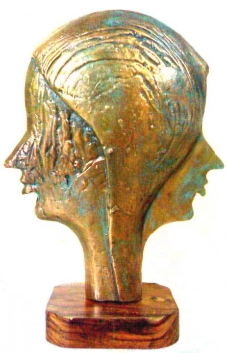 Bronze Sculpture titled 'Friends' by artist Sunil Chejara