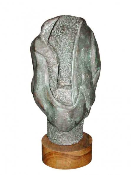 Bronze Sculpture titled 'Head' by artist Sunil Chejara