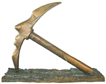 Bronze Sculpture titled 'Labour Life' by artist Sunil Chejara