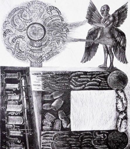 Kumara Swamy Pashikanti | Lifecycle 2 Printmaking by artist Kumara Swamy Pashikanti | Printmaking Art | ArtZolo.com