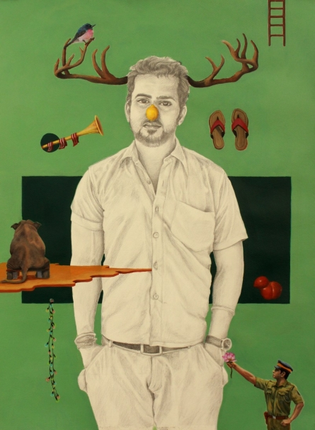 Ankur Singla Paintings | Mixed-media Painting title He Fooled Me by artist Ankur Singla | ArtZolo.com