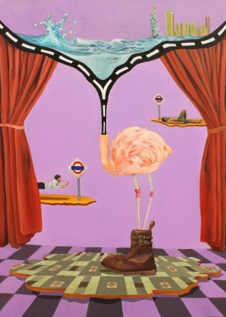 Fantasy Acrylic Art Painting title 'Mix Landscape' by artist Ankur Singla