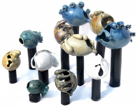 Ceramic Sculpture titled 'Aquarium' by artist Nishant Kumar