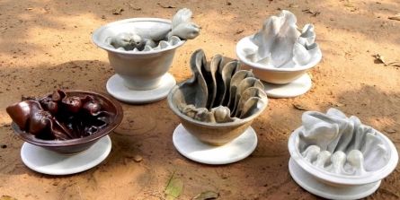 Ceramic Sculpture titled 'Nature In Bowl' by artist Nishant Kumar
