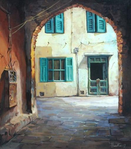 Arch | Painting by artist Shuvendu Sarkar | acrylic | Canvas