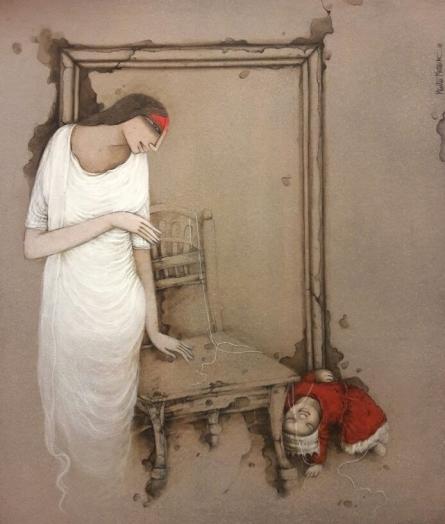 Mintu Mallick | Acrylic Painting title Untitled 3 on Canvas | Artist Mintu Mallick Gallery | ArtZolo.com