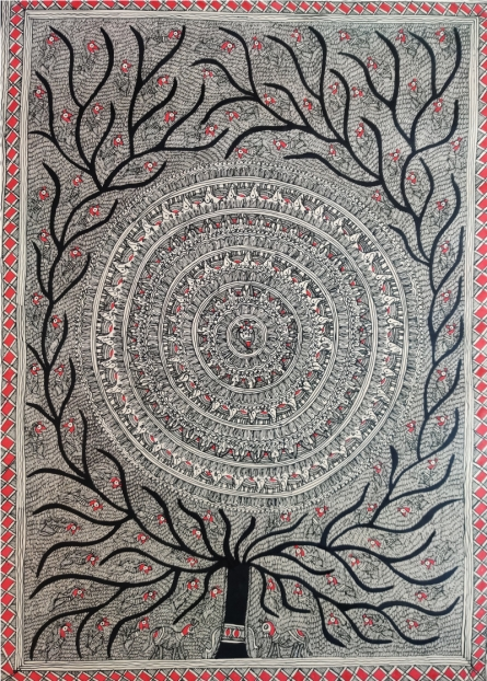 art, traditional, madhubani, paper, nature