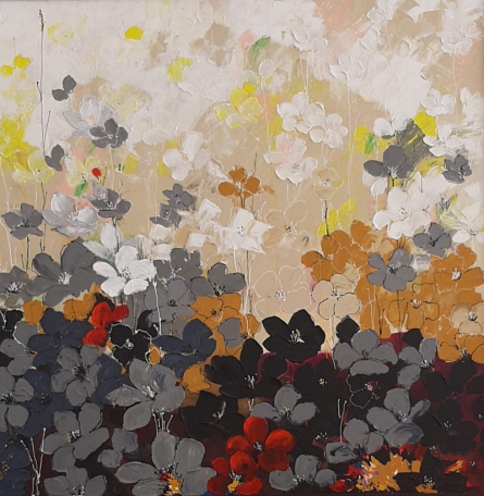 Nature Acrylic Art Painting title 'Dreamcatcher 3 X 3' by artist Surbhi Soni