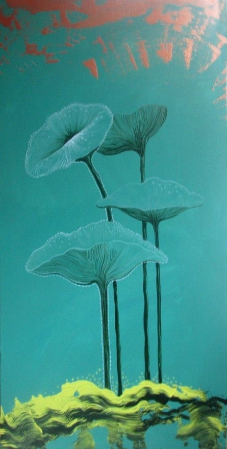 Nature Acrylic Art Painting title 'Flower 1' by artist Shyamali Paul