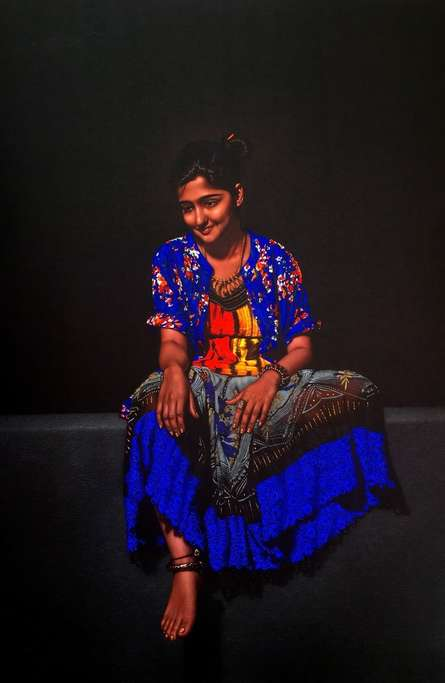Realistic Color-pencil Art Drawing title 'Happiness' by artist Shashikant Dhotre