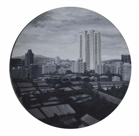 Cityscape Acrylic Art Painting title Untitled 4 by artist Ritesh Chopda
