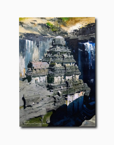 Place Watercolor Art Painting title Mystery Of India by artist Vishal Chavan