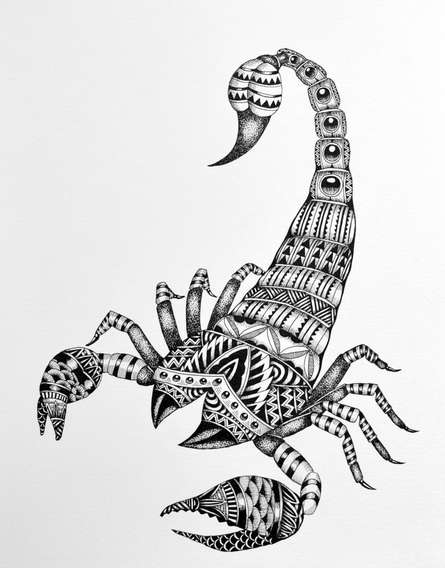 Pen Paintings | Drawing title Saggitarus on Paper | Artist Kushal Kumar