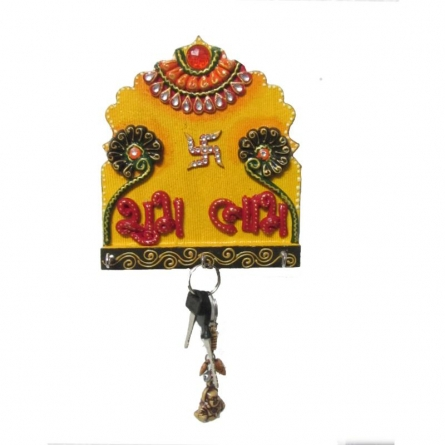 Shubh Labh Key Hanger | Craft by artist Ecraft India | Paper